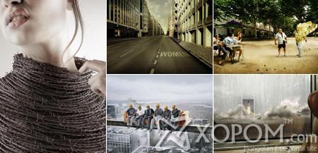 Өвөрмөц шийдэл бүхий рекламны зургууд [114 фото]
