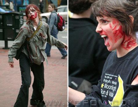 Zombies invade NYC [Зомби парад]