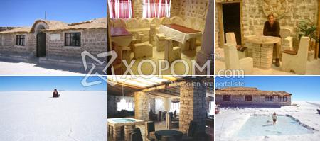Болив улсын давст нуур болон давсаар хийсэн зочид буудал