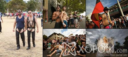 Мельбурн хот дахь ижил хүйстнүүдийн баярын жагсаал