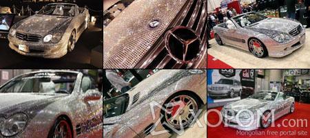 Болор шигтгээгээр чимэглэгдсэн Mercedes SL600