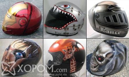 Мотоциклчдод зориулсан гоёмсог дуулганууд [44 фото]