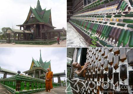 Тайланд улсад байдаг шилэн лонхоор баригдсан сүм