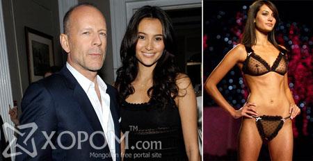 54 настай Bruce Willis 30 настай загвар өмсөгч бүсгүйтэй гэрлэжээ [14 фото]