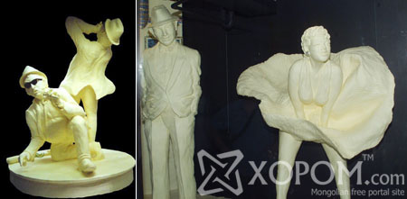 Butter sculpture буюу цөцгийн тосон уран баримал [74 фото]