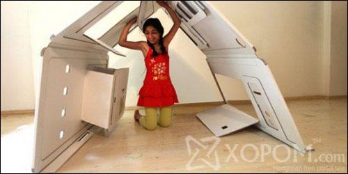 Liya Mairson-ы зохион бүтээсэн дэлгэгддэг картон цаасан тоглоомын байшин [11 фото]