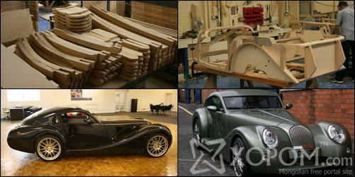 Гараар угсарч хийсэн Morgan нэртэй, модон их биетэй автомашин [23 фото]