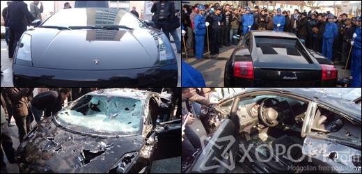 Хятадад шинээрээ шахуу Lamborghini Gallardo машиныг зориудаар сүйтгэжээ [20 зураг + 1 видео]