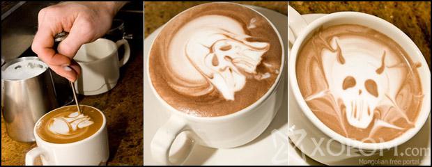 Онцгой зүйлд дурлагчдад зориулсан гайхалтай урлаг - Latte Art [14 зураг]