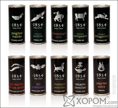 1854 Herbs and Spices Aluminum Based Package Design