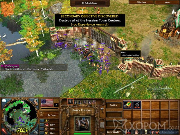 Age of Empires III: The WarChiefs for Mac A screenshot from Act I: The Batt