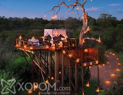 Өмнөд Африкын онгон байгаль дунд хоноглохыг урих зочид буудал